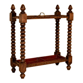 19th Century Hand-Turned Umbrella Stand For Sale