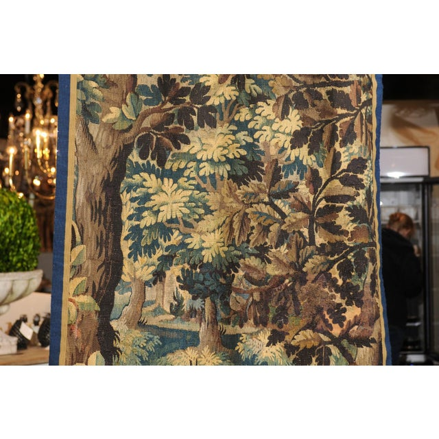 Mid 19th Century Pair of 19th Century French Handmade Vertical Tapestries with Pastoral Scenes For Sale - Image 5 of 12