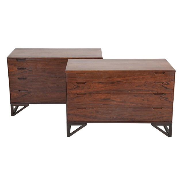 """Svend Langkilde Design Rosewood Dressers on """"Stand Base"""" - a Pair For Sale - Image 13 of 13"""