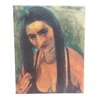 Amrita Sher-Gil Self Portrait #8 - Canvas on Frame (Reproduction Print) For Sale