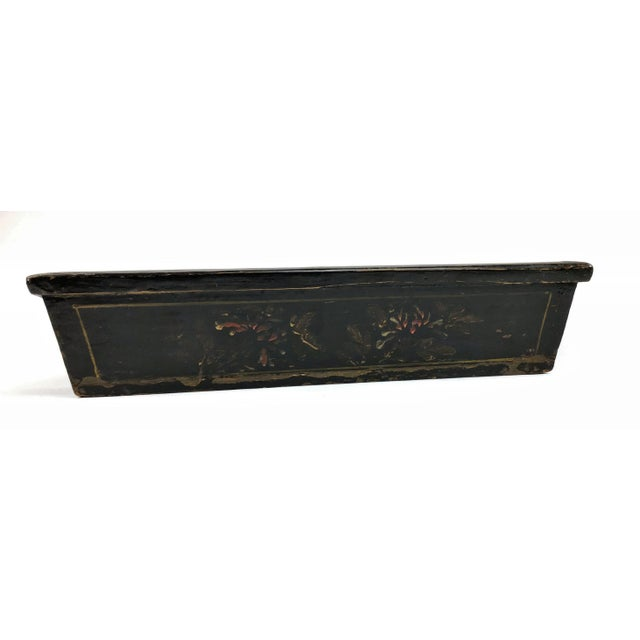 Wood 1900s Chinese Wood Painted Planter Box For Sale - Image 7 of 10