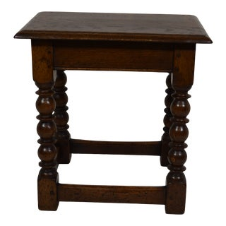 Late 1800s English Joined Stool For Sale