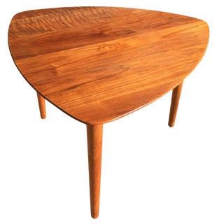 Danish Style Walnut Side Table Attributed to Jerry Glaser For Sale
