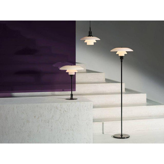Poul Henningsen Brass and Glass Ph 3½-3 Pendant for Louis Poulsen For Sale - Image 10 of 12