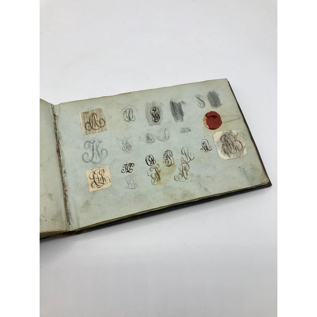 Early 19th Century Antique French Personal Leather Journal For Sale - Image 5 of 13