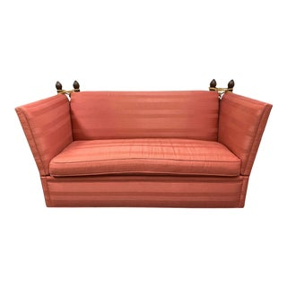 Late 20th Century Edward Ferrell Knole Custom Stripe Sofa For Sale
