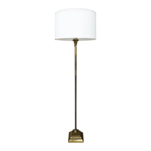 Spanish 1950s Brass Floor Lamp - Image 1 of 6