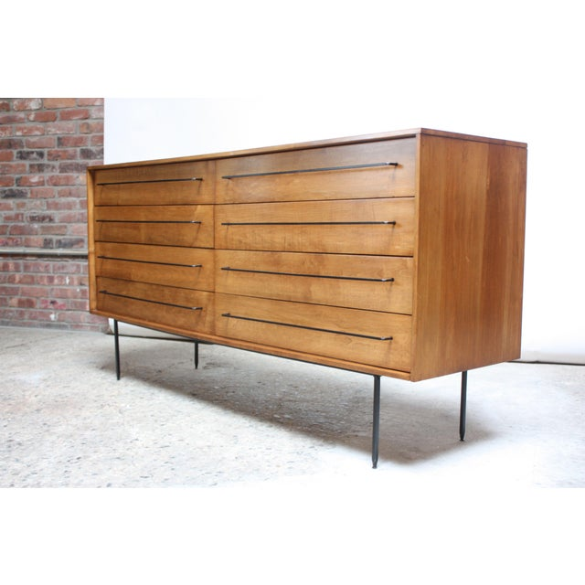 Scarcely seen 1950s chest of drawers designed by Milo Baughman for Murray Furniture of Winchendon, MA. (USA, 1950s)....