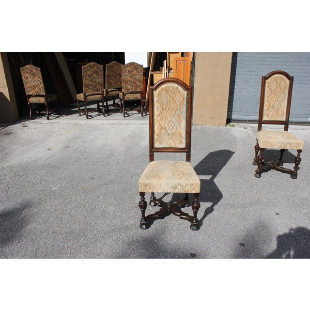 1900s Vintage French Louis XIII Style Dining Chairs - Set of 6 For Sale - Image 9 of 13
