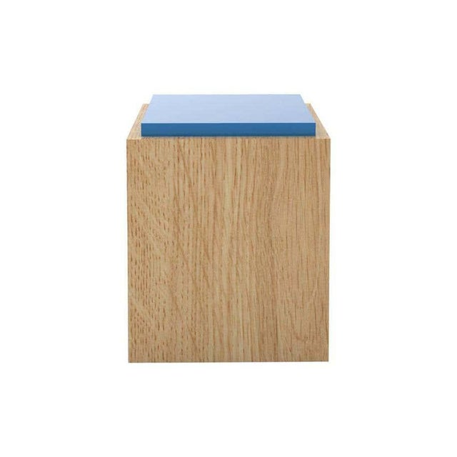 Material Lust Contemporary 103C Side Table in Color by Orphan Work For Sale - Image 4 of 4