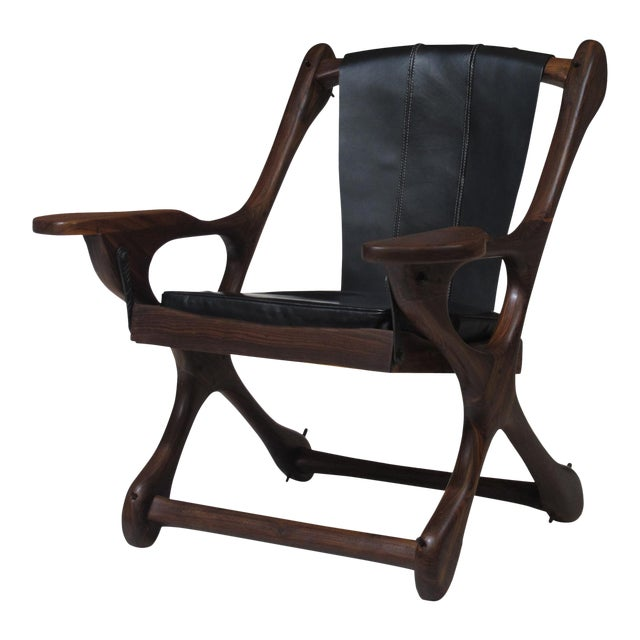 Don Shoemaker Cocobolo Rosewood Swinger Chair For Sale