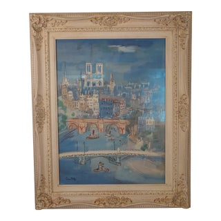 "1950s Jean Dufy ""Paris Seine Et Notre Dame"" Lithograph For Sale"