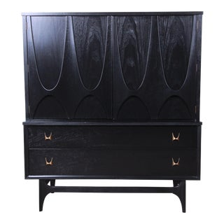 Broyhill Brasilia Mid-Century Modern Ebonized Gentleman's Chest, 1966 For Sale