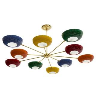 Stilnovo Style Multicolored Sputnik Chandelier For Sale