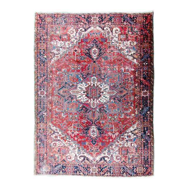 1920s Large Heriz Rug - 11′4″ × 14′1″ For Sale