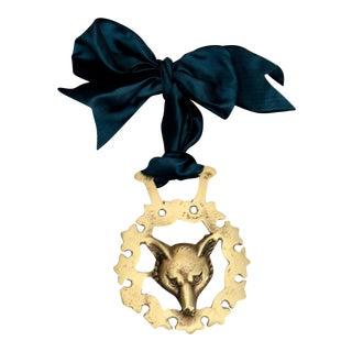 19th-C. English Fox Horse Brass Ornament