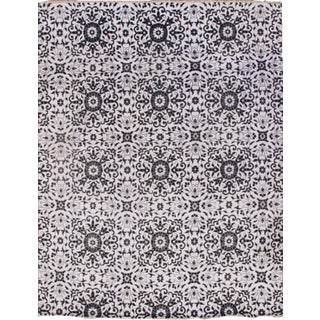 Modern Hand Knotted Silk Rug - 8' X 10' For Sale