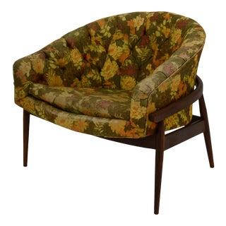 Barrel Back Tufted Floating Chair For Sale