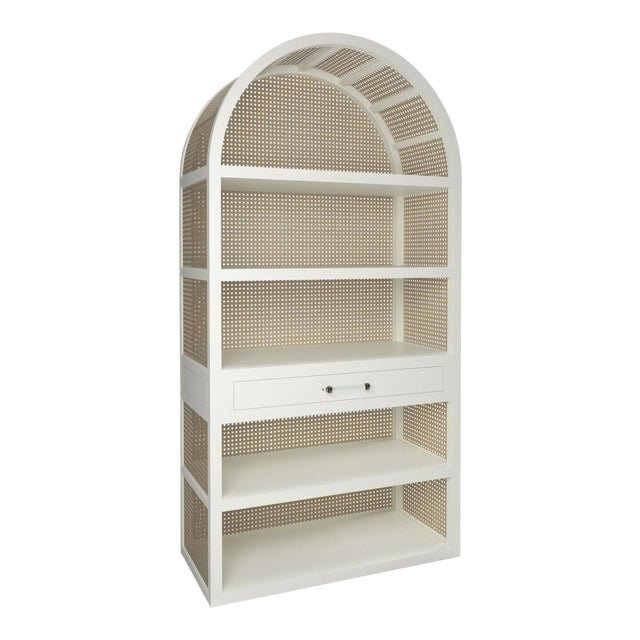 Leila Etagere Bookcase- Simply White For Sale