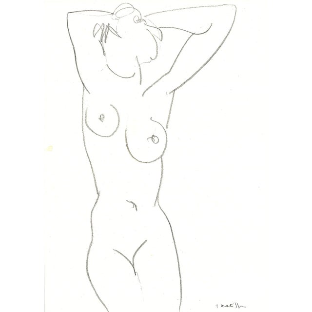 Henri Matisse Nude Drawing, 1952 - Image 2 of 2