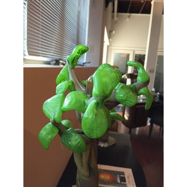 "Handblown Glass Tree Head ""Summer"" Sculpture - Image 8 of 10"