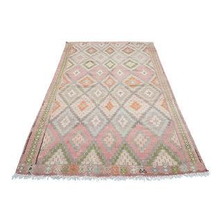 Vintage Sard Nomads Embroidery Kilim Rug For Sale