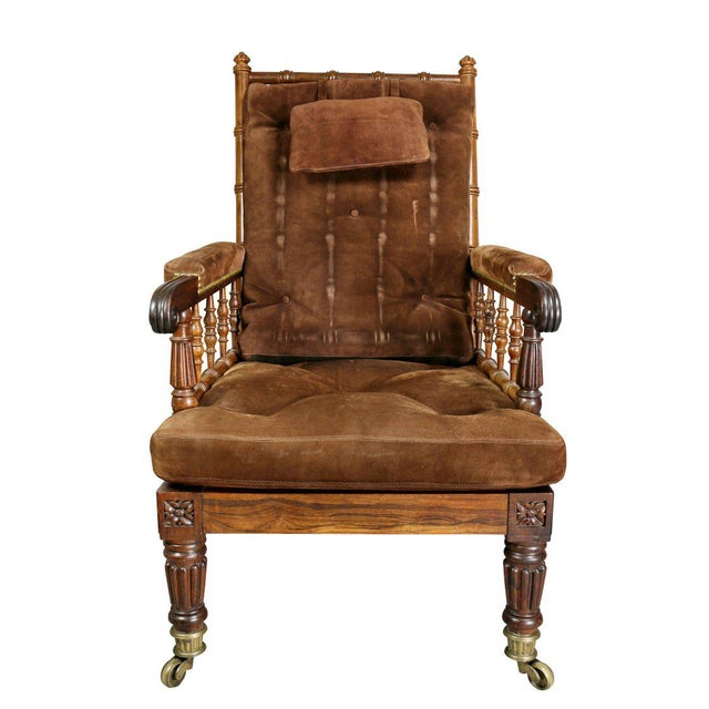 George IV Rosewood Bergere Chair by Gillows For Sale - Image 11 of 12
