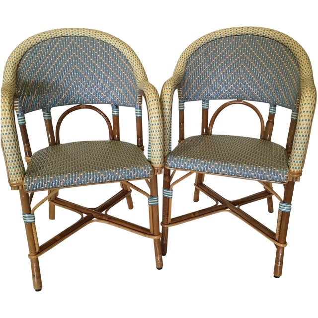 Authentic French Maison Gatti Café Chairs - Pair | Chairish
