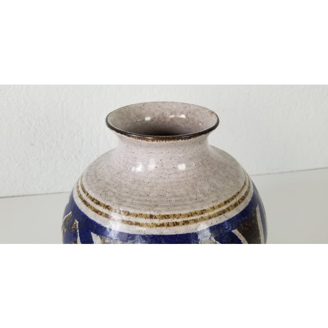 Mid-Century Stoneware Pottery Vase For Sale In Miami - Image 6 of 8