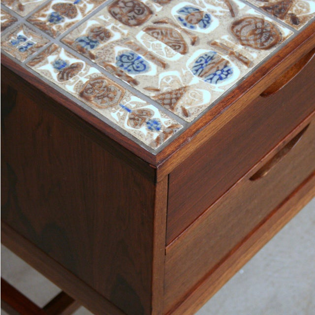 Severin Hansen Vintage Danish Rosewood and Royal Cph Tile Chest of Drawers For Sale - Image 5 of 6
