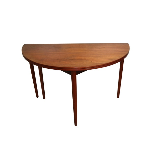 Mid-Century Teak Folding Dining Set - Image 6 of 7