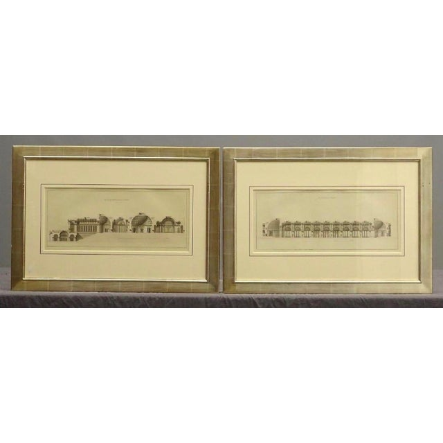 White Early 19th Century Antique French Architectural Study Framed Prints - A Pair For Sale - Image 8 of 8
