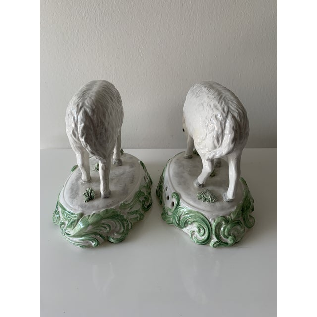 Farmhouse Mid 20th Century Chelsea House Sheep Made in Italy - a Pair For Sale - Image 3 of 9