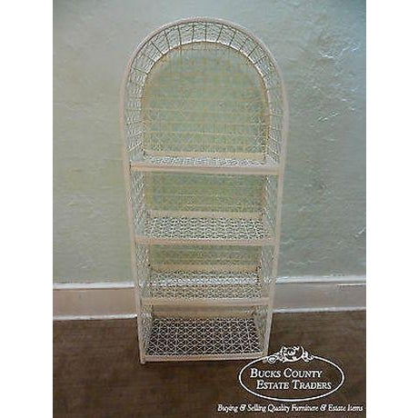 Russell Woodard Vintage White Spun Fiberglass Patio Etagere Bookcase For Sale - Image 13 of 13