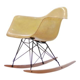 1950s Vintage Eames Shell Chair on Rocker Base For Sale