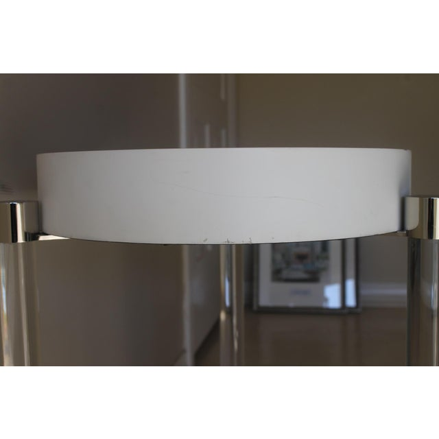 Port 68 Mid-Century Modern Port 68 Maxwell White/ Gold Accent Table For Sale - Image 4 of 7