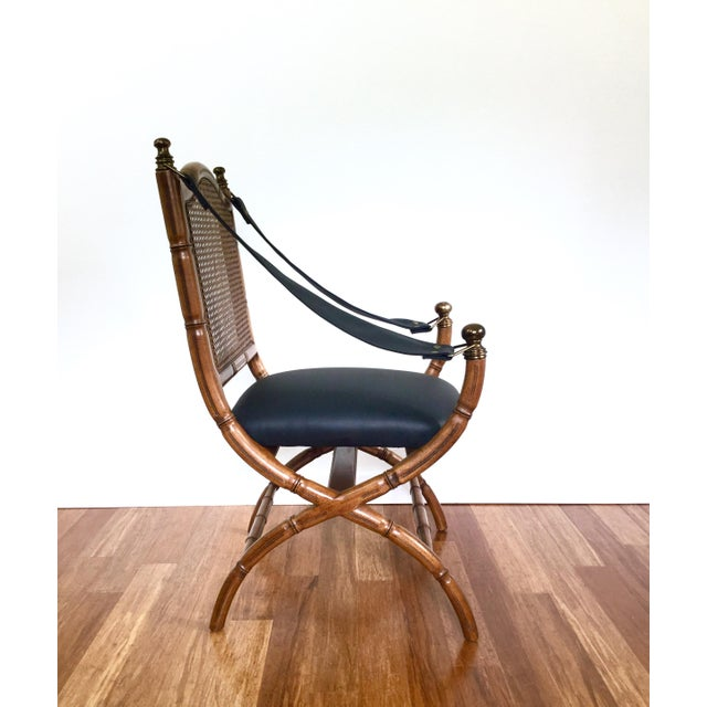 Drexel Faux Bamboo & Cane Chair For Sale In Austin - Image 6 of 6