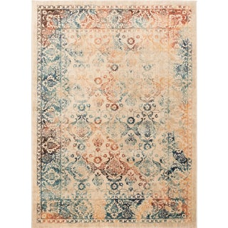 Journey Nicola Traditional Floral Multi-Color Rectangle Area Rug - 5' x 8' For Sale