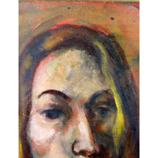 Framed Oil on Canvas Portrait Painting Signed by Annette Dufresne For Sale In Detroit - Image 6 of 10