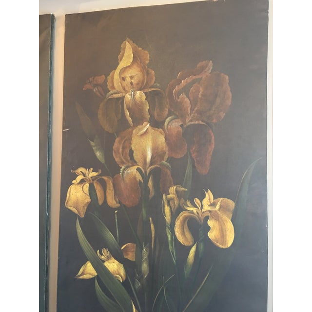19th Century French Monumental Floral Paintings - a Pair For Sale - Image 4 of 7