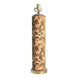 Vintage Wood Wallpaper Roller Lamp