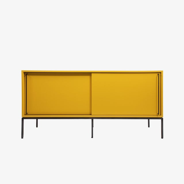 Not Yet Made - Made To Order Customizable Re: 379 Grass Green Lacquered Credenza on Brass base For Sale - Image 5 of 12