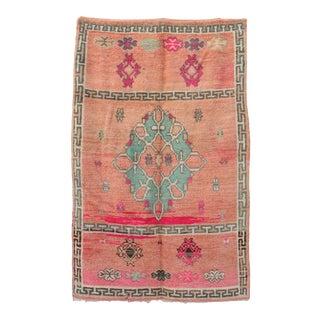 1970s Vintage Pink Moroccan Rug For Sale
