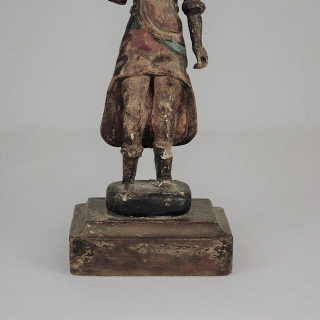 Wood 19th Century Carved Wood Youth For Sale - Image 7 of 13