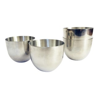 Vintage Pewter Julep Cups - Set of 4 For Sale