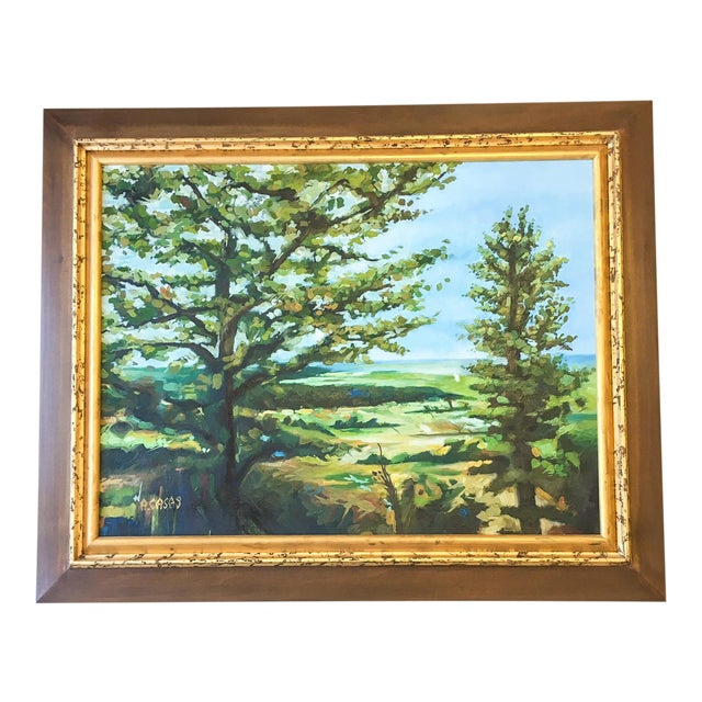 Modern Acrylic Framed Landscape Painting by John-Richards - Image 1 of 6