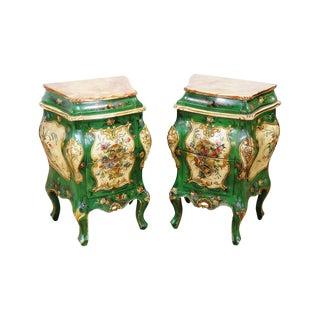 Pair of Italian Venetian Style Nightstands
