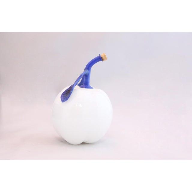Art Glass White Hand Blown Art Glass Apple Perfume Bottle, Circa 1920s For Sale - Image 7 of 10