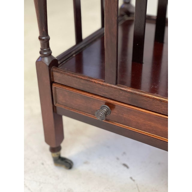 Metal Early 20th Century English Regency Canterbury For Sale - Image 7 of 13