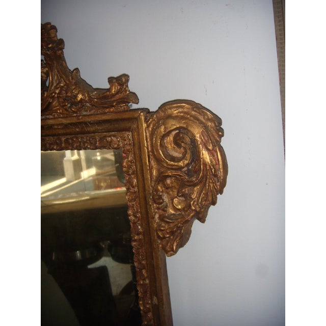 Antique Italian Gilt Cherub Mirror - Image 8 of 12